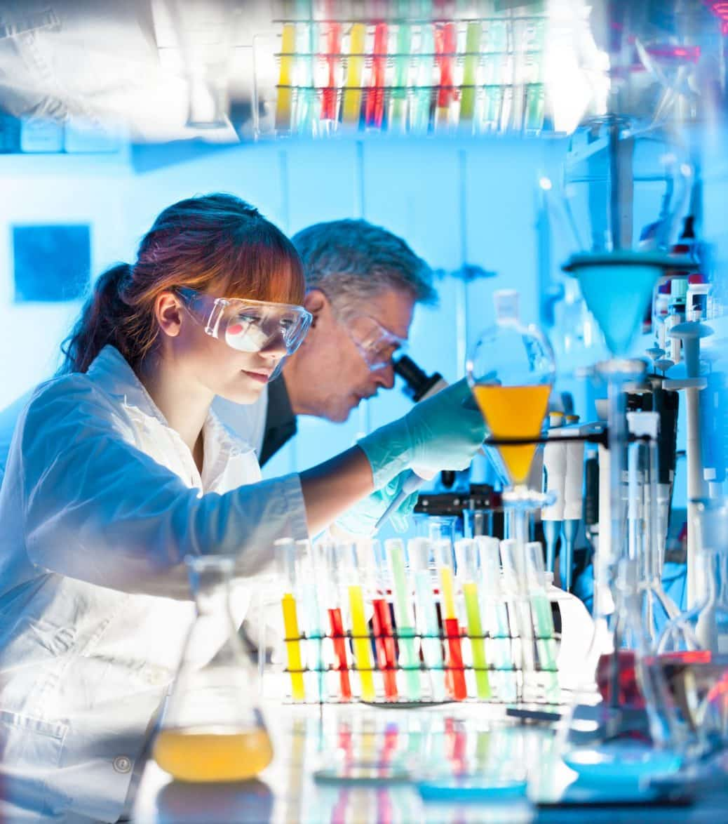 scientists working in research laboratory