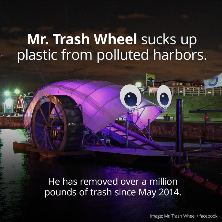 Mr Trash Wheel Is The EcoFriendly PlasticPicking Device - Fast car plucking