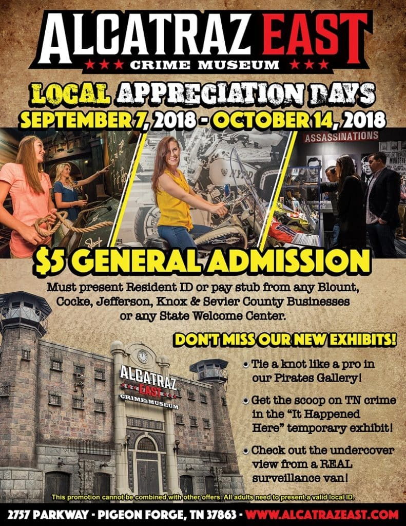 Alcatraz East Fall Local Appreciation Days Flyer