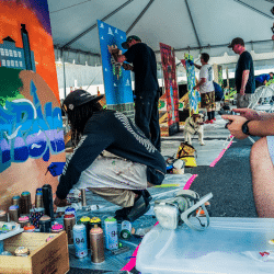 Artists busy preparing for the Alcatraz graffiti contest