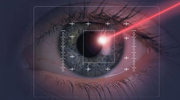 picture of person using their eyeball to control their mouse
