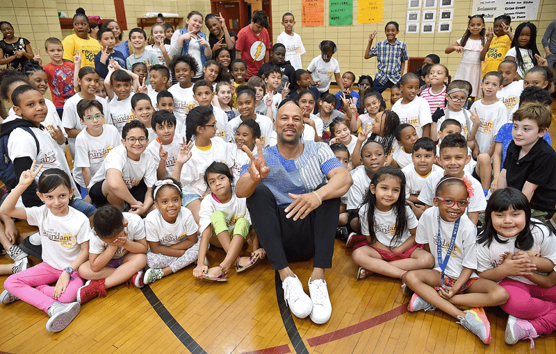 Common with classroom full of school children.