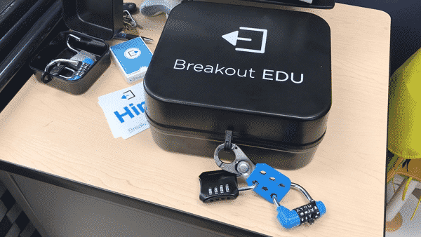 image of a breakout box on a table