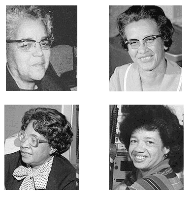 "Four of Nasa's ""Hidden Figures"" are pictured in a collage"