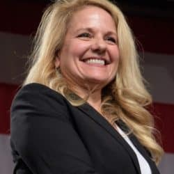 Gwynne Shotwell smiling for the camera